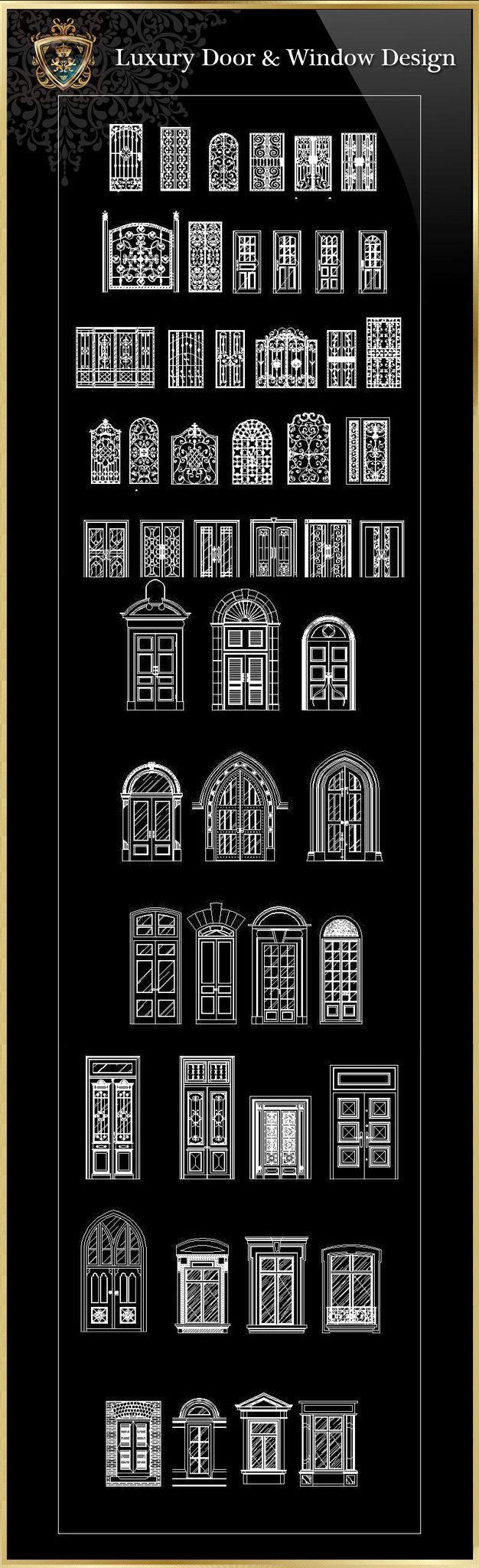 Royal Architecture Door & Window Design – CAD Design | Free CAD Blocks,Drawings,Details