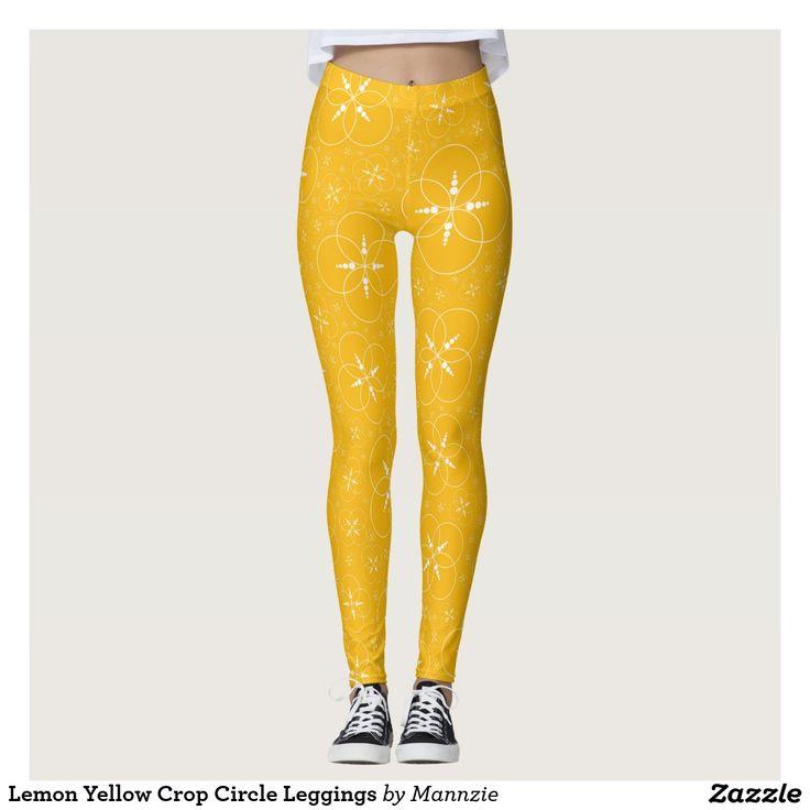 Lemon Yellow Crop Circle Leggings