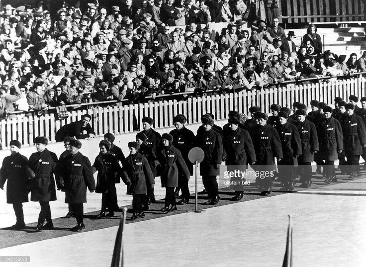 Eröfnungsfeier OS 1956- Einmarsch der sowjetischen Mannschaft