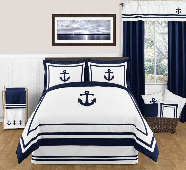 Nautical Anchor Full/Queen Bedding - 3 Pc Comforter Set