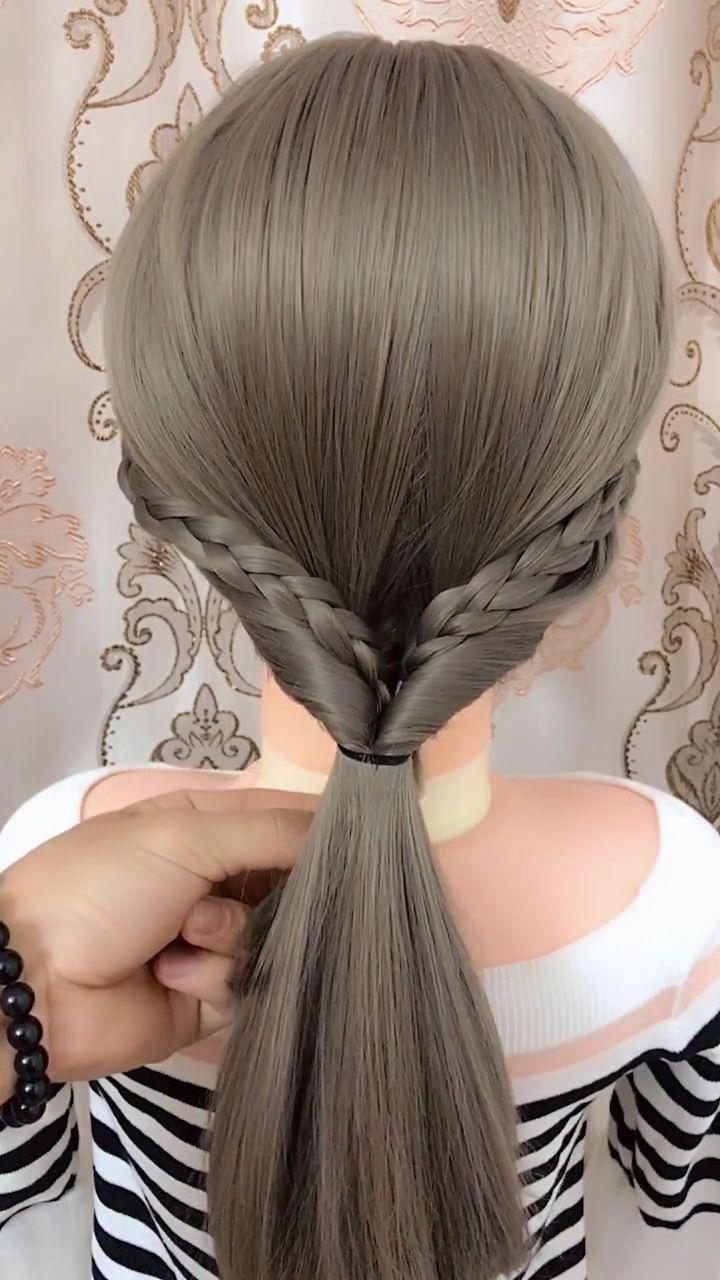 Plus De 30 Videos De Coiffures De Tresses Faciles Hair Cheveux Hair Braid Videos Braided Hairstyles Easy Hair Styles