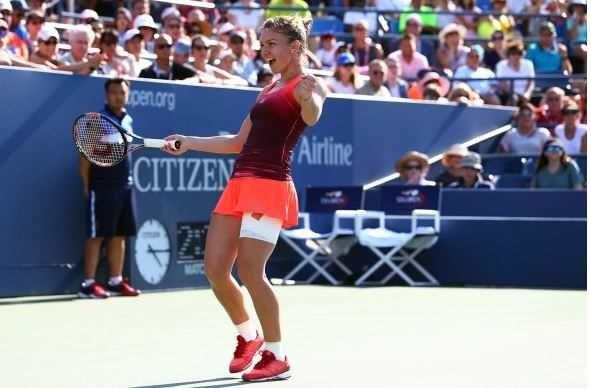 Jucatoarea de tenis Simona Halep, a doua favorita, s-a calificat, luni, in premiera, in sferturile de finala ale turneului US Open, ultimul de Mare Slem al anului.