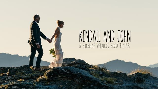 Kendall and John's sunset elopement wedding on a Queenstown, New Zealand mountain. Photography, film and planning by Sunshine Weddings. www.elopementweddings.co.nz