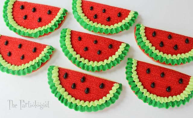 The Partiologist: Buttercream Watermelon Cookies!