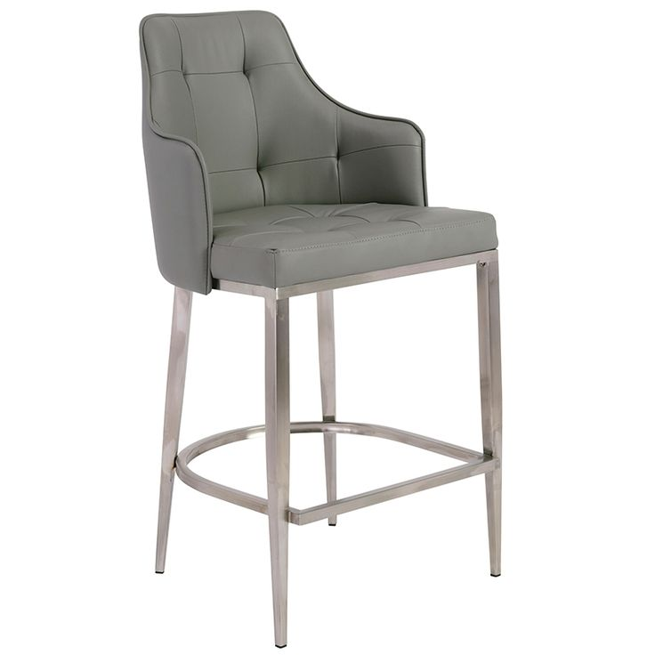 Crafted for long life and designed for exceptional comfort, the Aaron-C Counter Stool also features graceful aesthetics. Its lovely, regal white tone with stainless steel legs boasts an adaptability for either a home or professional environment. The...