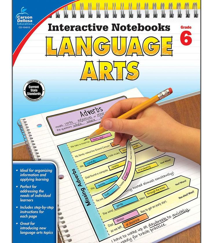 Interactive Notebooks: Language Arts Resource Book Sixth Grade