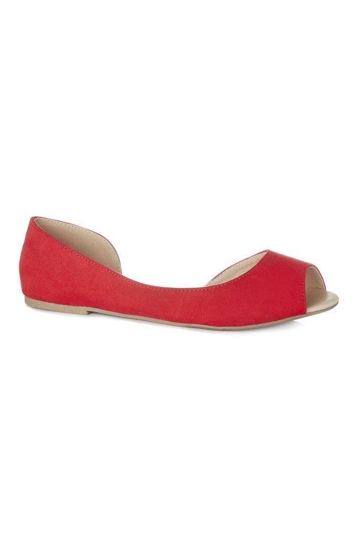 Primark - Sabrinas abertas vermelho