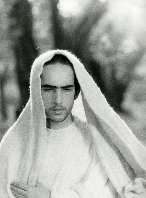 Enrique Irazoqui as Christ in Il Vangelo secondo Matteo, directed by Pier Paolo Pasolini, 1964.