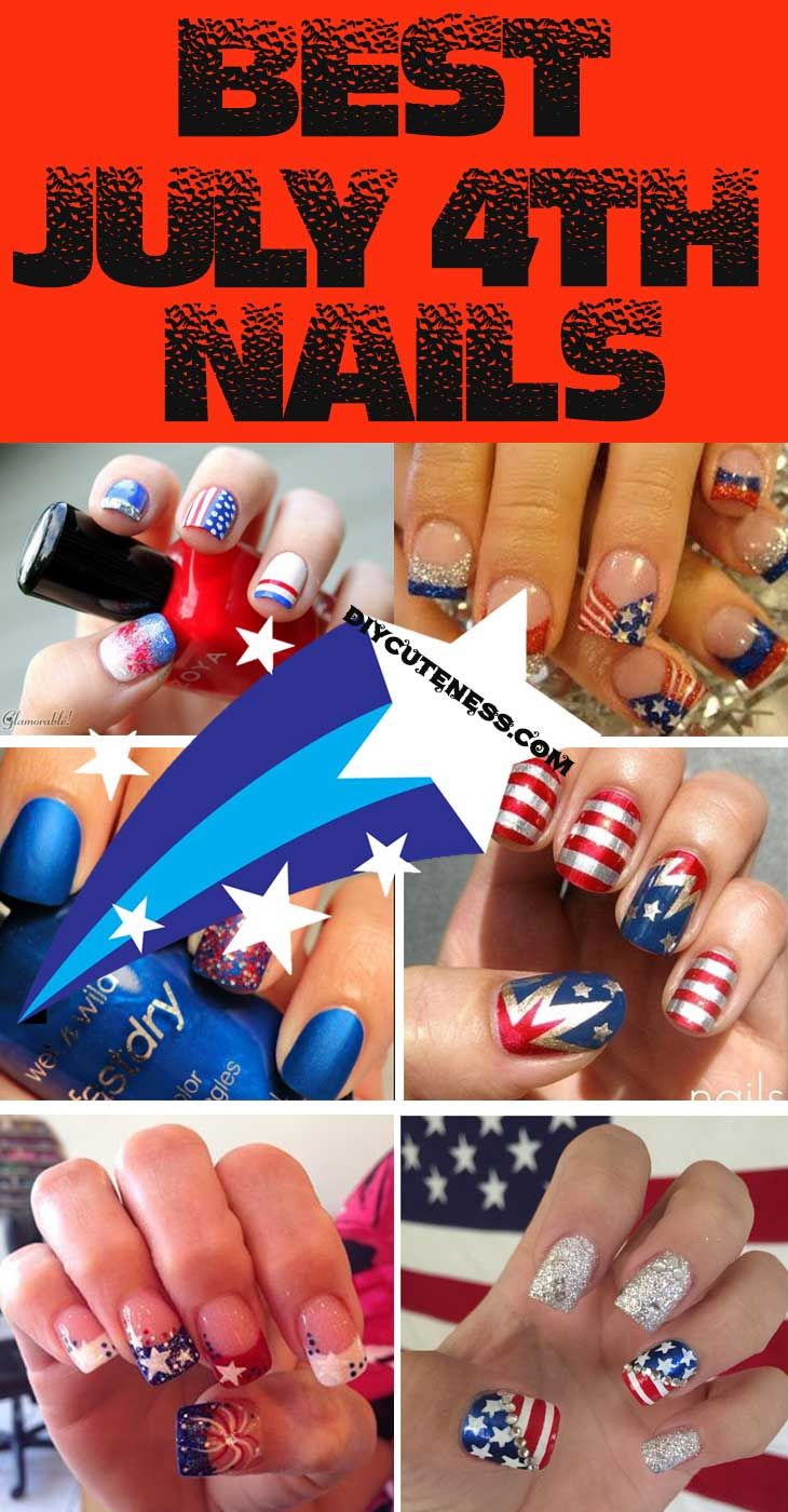 Easy Diy 4th Of July Nails For Kids Nails For Kids 4th Of July Nails July Nails