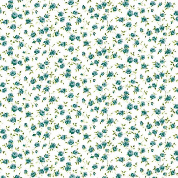 Liberty Fabric Nina L Pale Blue Tana Lawn One Yard, background flowers cute