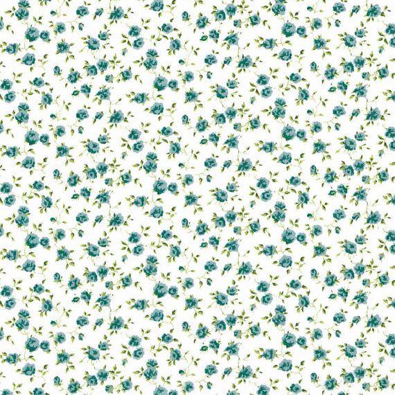 Liberty Fabric Nina L Pale Blue Tana Lawn One Yard, background flowers cute
