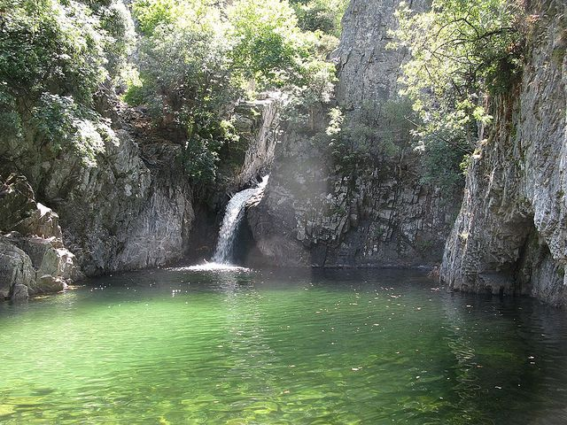 Samothrace (Samothraki) island, Greece. You can swim in these waterfalls. Find out more at http://www.blogtravels.gr/2013/06/samothraki/