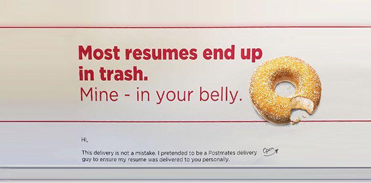 Un CV poate fi ignorat, o gogoașă niciodată!
