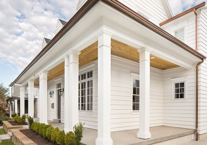 596 best front porch images on pinterest beach homes for Wrap around porch columns