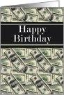 Happy Birthday Cash 100 dollar bills card