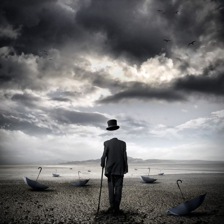 Love the sky in this Saatchi Online Artist: Stefano Bonazzi; Photomanipulation, 2010, Digital The cemetery of umbrellas