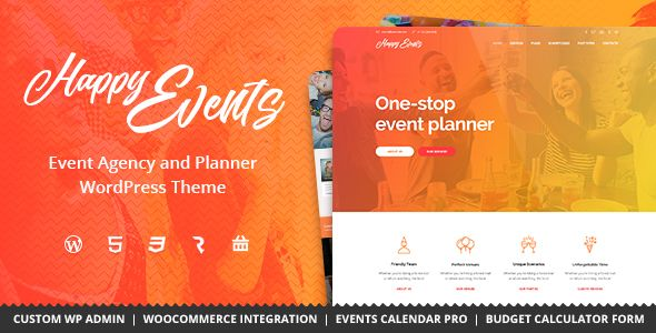 Happy Events - Holiday, Event Agency & Planner Events WordPress Theme (Events) - http://wpskull.com/happy-events-holiday-event-agency-planner-events-wordpress-theme-events/wordpress-offers