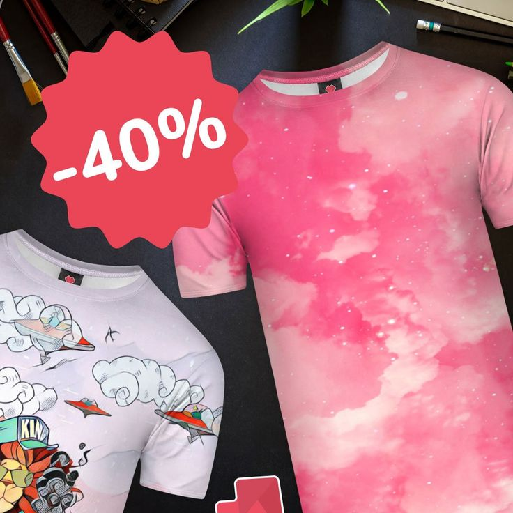 Feel the spring with fullprint T-shirts!☀️🌼🌷 Get your favourite designs with -40% and enjoy weekend sale!😀 https://liveheroes.com/en/shop/women/t-shirt?special=featured