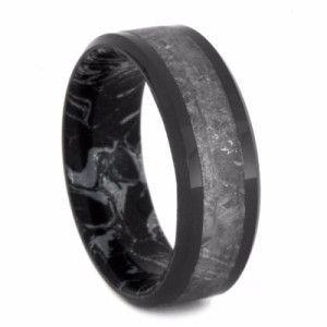 pinterest - Black Wedding Rings For Him