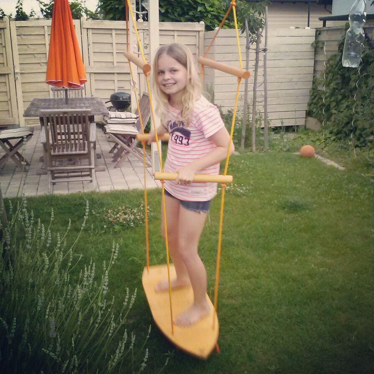 diy surfboard swing for cool kids