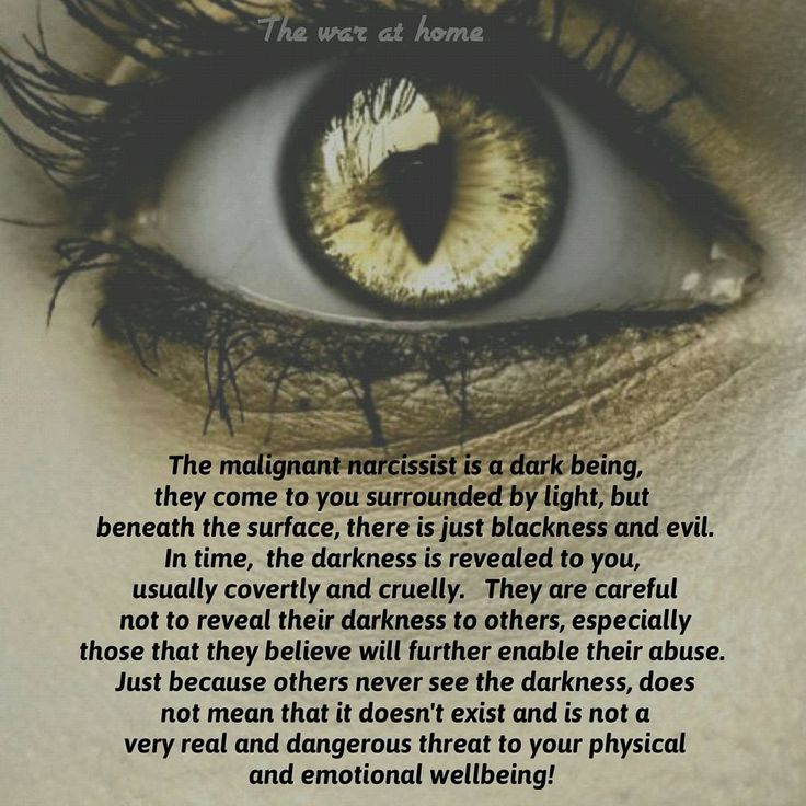 Narcissists are dark predators disguised as angels of lights. If anyone seems…