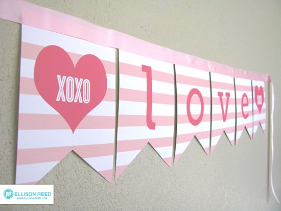 Or so she says...: Free Valentine's Love Banner Printable (she: Melissa)