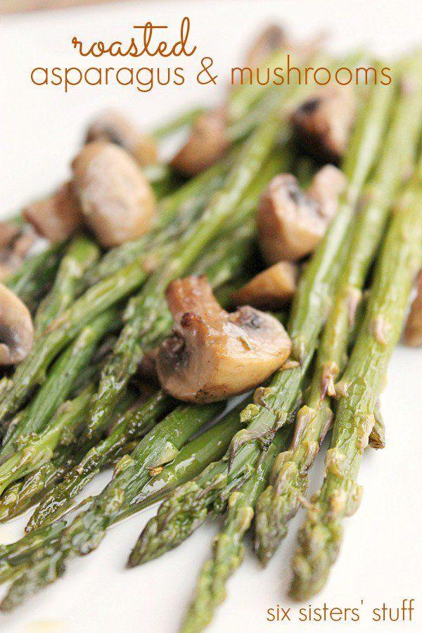Roasted Asparagus and Mushroom   Six Sisters' Stuff