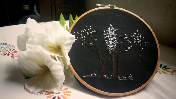 Embroidery .. inspired by fireflies .. :)