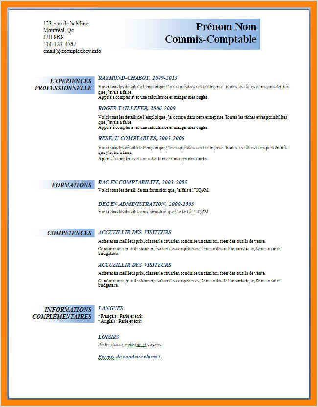 Exemple De Cv Boucher Resume Examples Resume Study