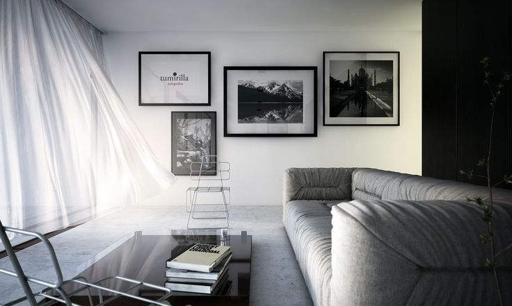 3d image, rendering, living room in 3ds max