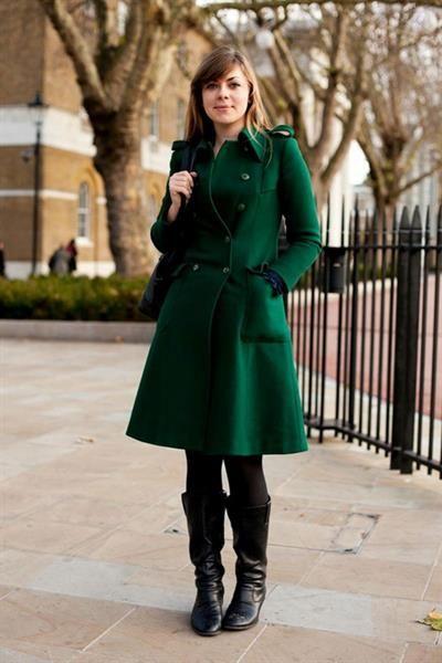 Зелёное пальто картинки
