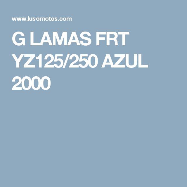 G LAMAS FRT YZ125/250 AZUL 2000