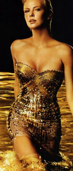 Christian Dior beauty beyond the perfume's wildest dreams.- thinking of the one where she wades through gold paint?