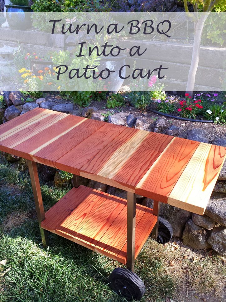 You can turn your old BBQ into a beautiful Patio Cart with some paint and lumber. Come visit my blog and I'll show you how easy it is.