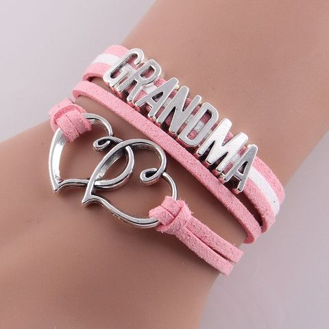 Leather Connected Heart Bracelet