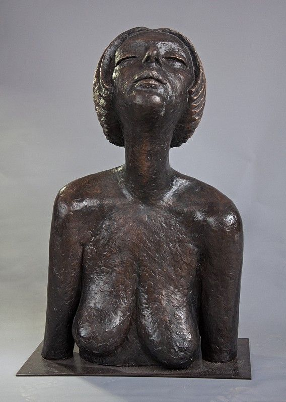Olbram Zoubek Busta Marie bronz / bronze 59 cm, 1977