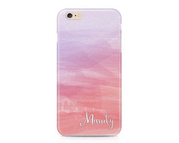 Ombre Watercolor Phone Case, Personalized Phone Case, Custom Phone Case, Purple Phone Case, Peach Phone Case, iPhone, Samsung Galaxy