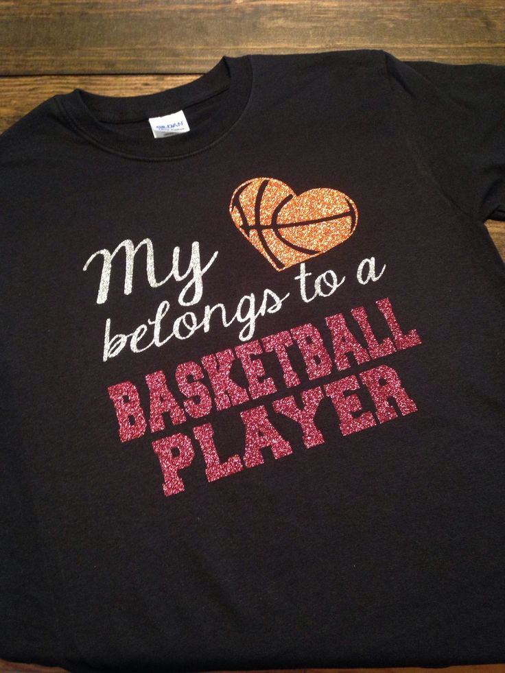 My Heart Belongs To A Basketball Player Mom Girlfriend Wife T-Shirt GLITTER!! - pinned by pin4etsy.com