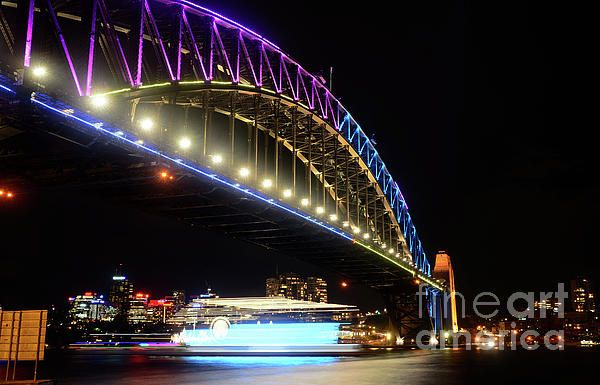 #HARBOUR #BRIDGE #BLUES #VIVID_SYDNEY by #Kaye #Menner #Photography Quality Prints Cards Products at: http://kaye-menner.pixels.com/featured/harbour-bridge-blues-vivid-sydney-2016-by-kaye-menner-kaye-menner.html