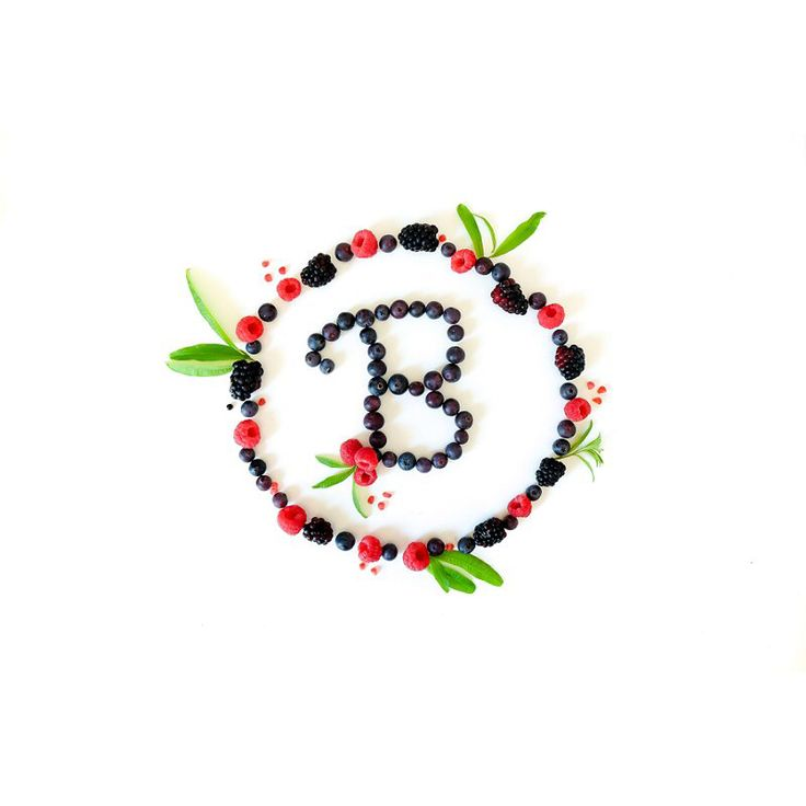Berry food typography