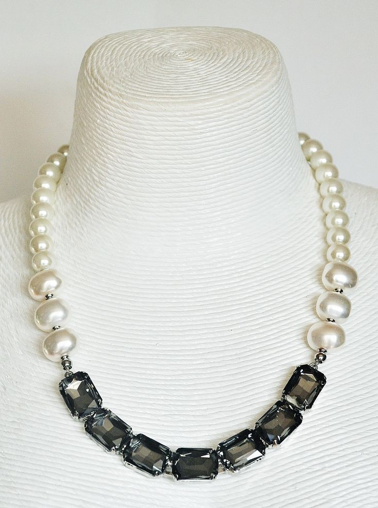 Beautiful handmade necklace with Swarovski crystals pearls and components from www.Born2shop.co.nz