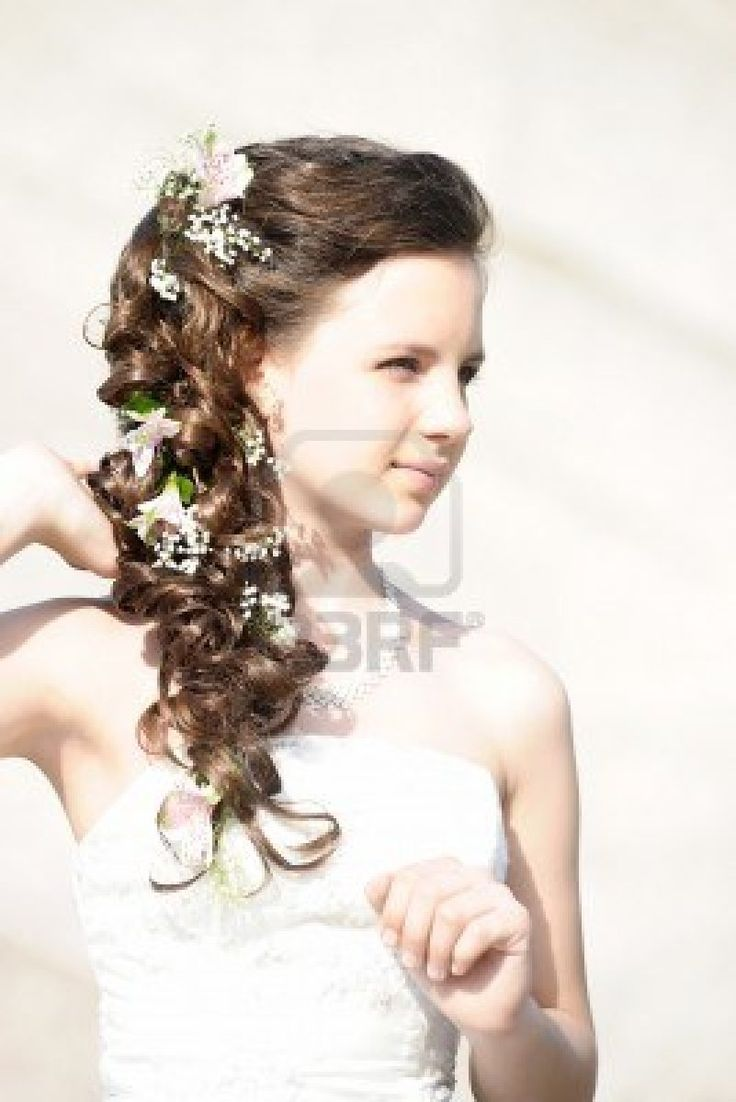 24 best wedding: flower girl hairstyles images on pinterest