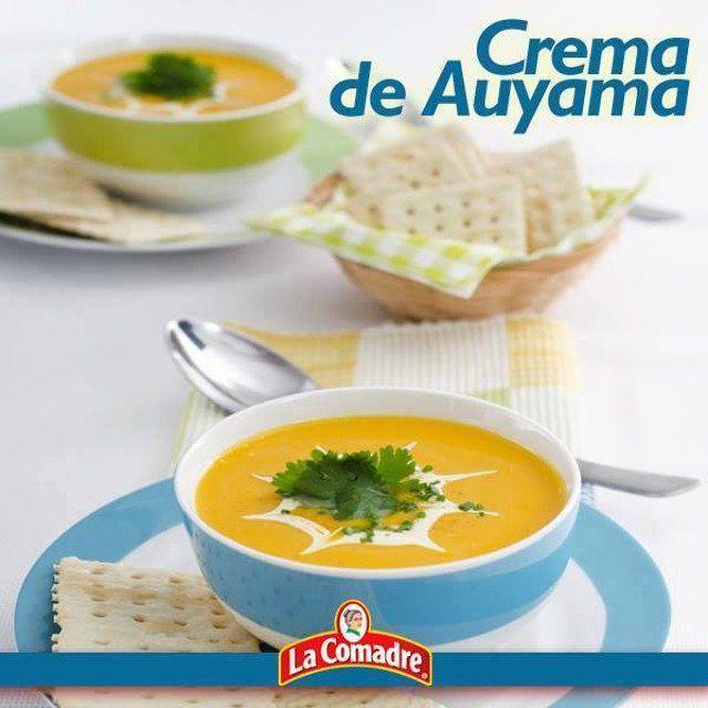 ¿Te provoca compartir con tu familia una crema sabrosa y nutritiva? #Receta #LaComadre Crema de Auyama http://lacomadre.com.ve/web/lareceta.php?id127  Ingredientes:  2 Cdas. de Margarina.  1 cebolla picadita.  2 dientes de ajo triturado.  1 Cda. de Adobo La Comadre.  1 Cda. de Ajo en Polvo La Comadre.  2 Tazas de auyama cruda, picada.  Taza de leche evaporada o crema de leche.  3 Tazas de caldo de pollo.  Preparación:  En una cacerola derrite la Margarina y sofríe la cebolla con los ajos…