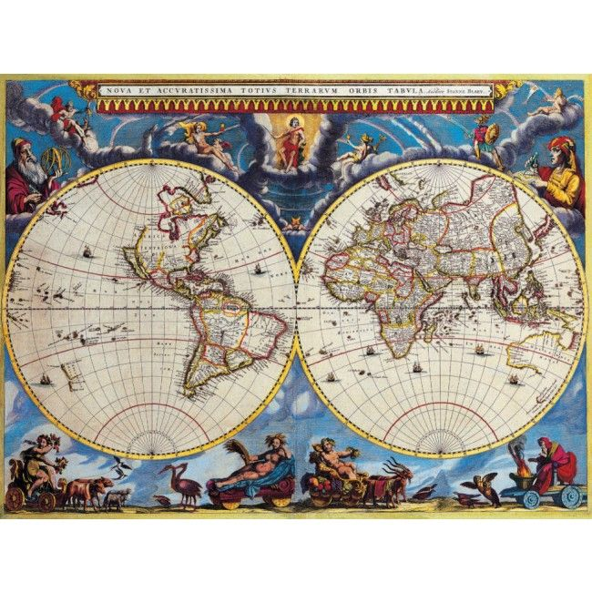 Stunning Vintage World Map Decor High Quality Removable Wall Mural