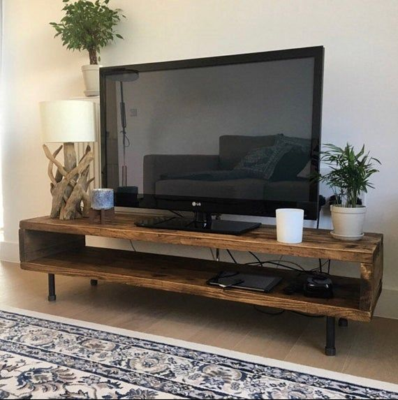 Reclaimed Wood Tv Stand Cabinet 47cm High Tv Stand Wood