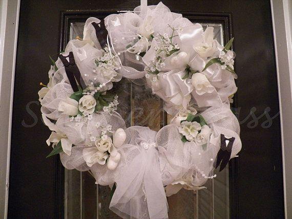 Wedding Wreath bridal Shower Wedding decoration by SouthernSassHD, $129.99
