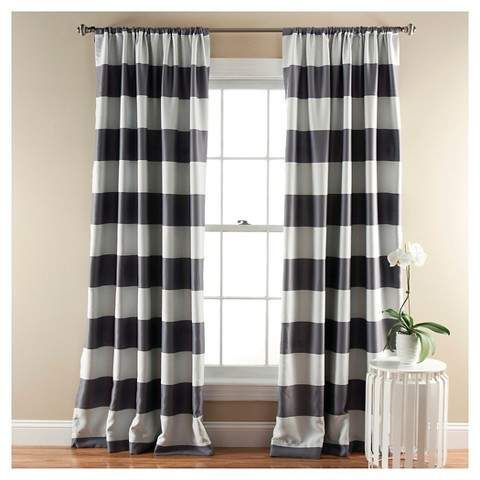 Triangle Home Fashions Stripe Curtain Panels Room Darkening Target Curtains Target Promotion Curtains Striped Curtains Striped Room