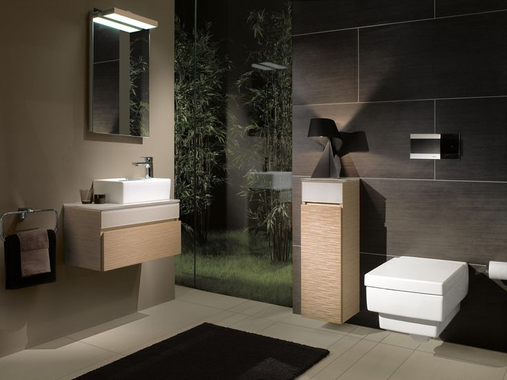 Genial Bathroom: Sleek Bathroom Villeroy Boch Bathroom Furniture Surface Mounted  Washbasins Vanities Cabinets Mirrors Toilets And A Bidet: Sleek Ba.