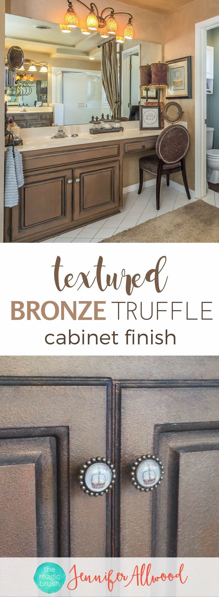 How to Paint a textured bronze truffle