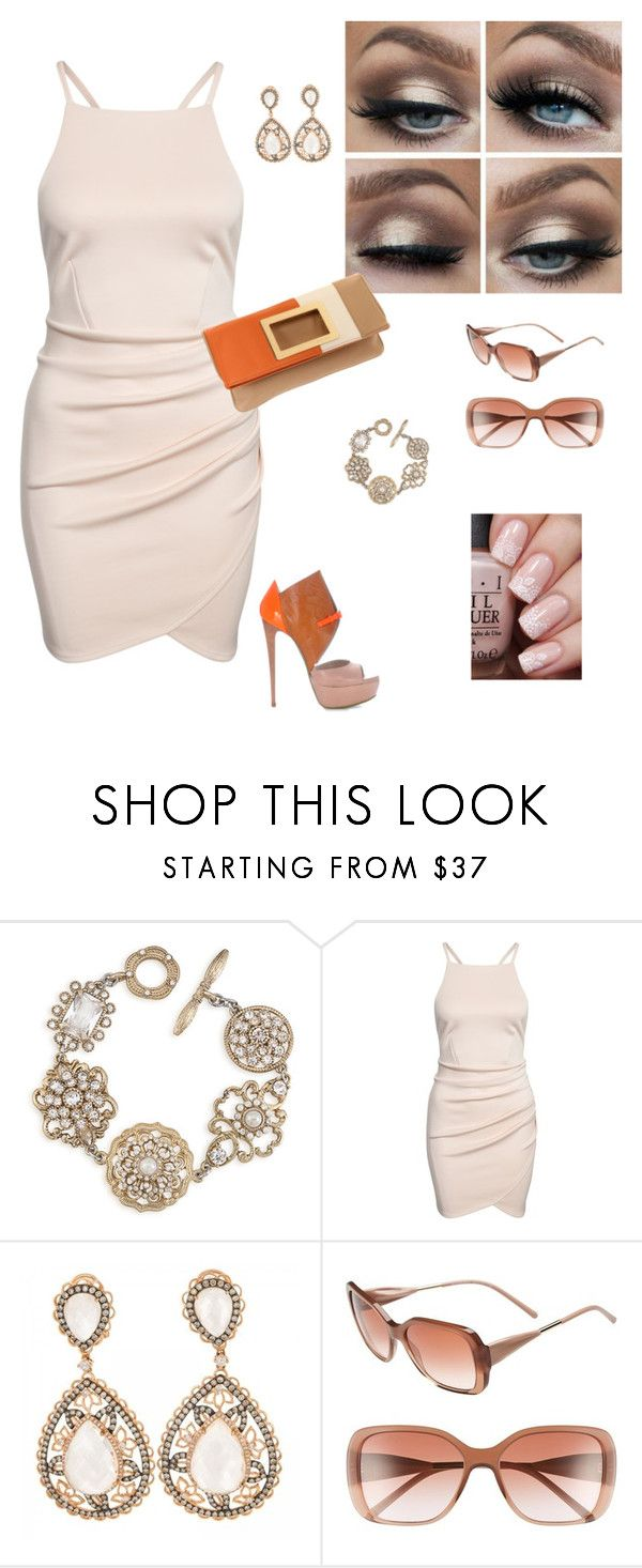 """LOOK # 207"" by afemei on Polyvore featuring moda, Ruthie Davis, Carolee, Nine West e Burberry"